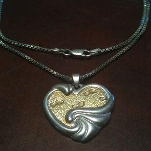 Gorham Sterling Footprints necklace